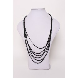 Collier/sautoir noir à perles