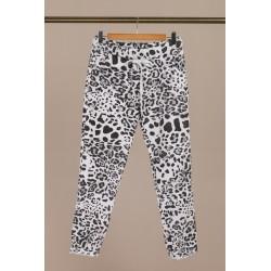Pantalon blanc/noir