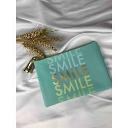 Pochette SMILE vert amande
