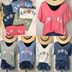 t-shirt LOVE ETOILE