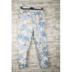 Pantalon FLORAL bleu