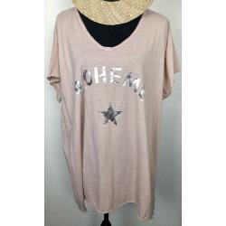 T-shirt/Tunique BOHEME rose
